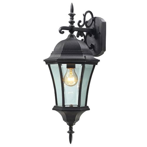 Wakefield Black One-Light 24-Inch Outdoor Wall Mount