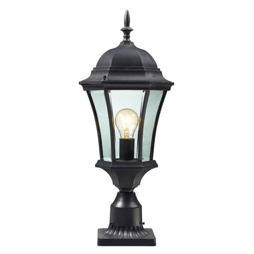 Wakefield Black One-Light Outdoor Pier Mount