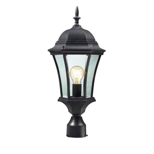 Wakefield Black One-Light 22-Inch Outdoor Post Mount