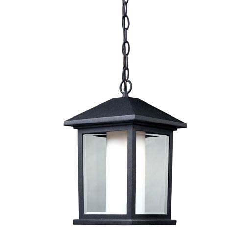 Mesa Black One-Light Outdoor Pendant