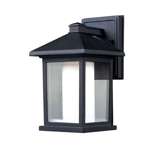 Mesa Black One-Light 10-Inch Outdoor Wall Mount