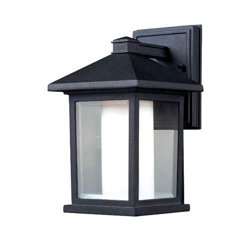 Z-Lite Mesa Black One-Light 10-Inch Outdoor Wall Mount