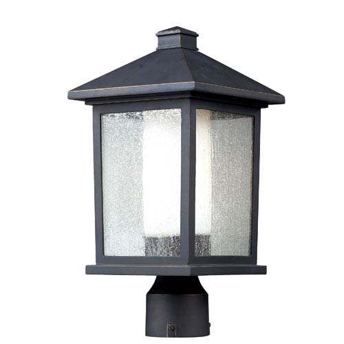 Z-Lite Mesa Oil Rubbed Bronze One-Light Outdoor Post Mount
