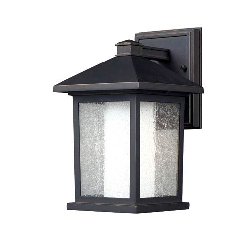 Z Lite Mesa Oil Rubbed Bronze One Light 10 Inch Outdoor Wall Mount