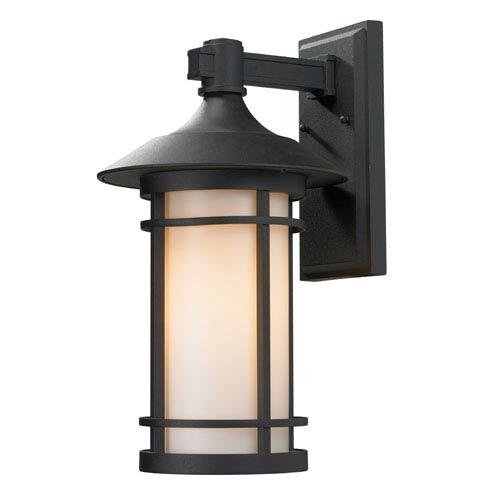 Woodland Black Outdoor Wall Light