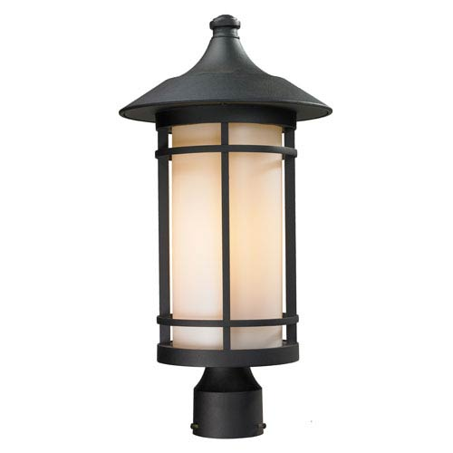 Z-Lite Woodland Black Outdoor Post Light