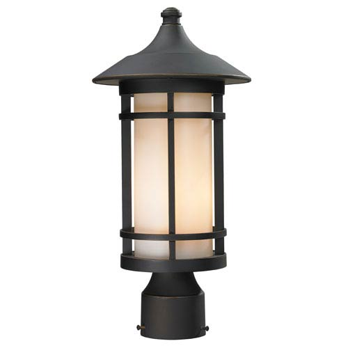 Z-Lite Woodland Oil Rubbed Bronze Outdoor Post Light