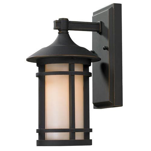 Z-Lite Woodland Oil Rubbed Bronze Outdoor Wall Light