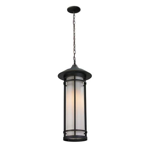 Z-Lite Woodland Oil Rubbed Bronze Outdoor Chain Light