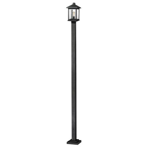 Z-Lite Portland Black 9-Inch One-Light Large Outdoor Post Light