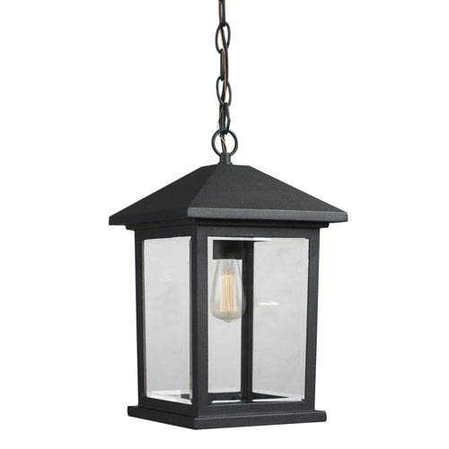 Portland Black One-Light Outdoor Medium Hanging Light