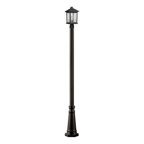 Z-Lite Portland Oil Rubbed Bronze 10-Inch One-Light Small Outdoor Post Light