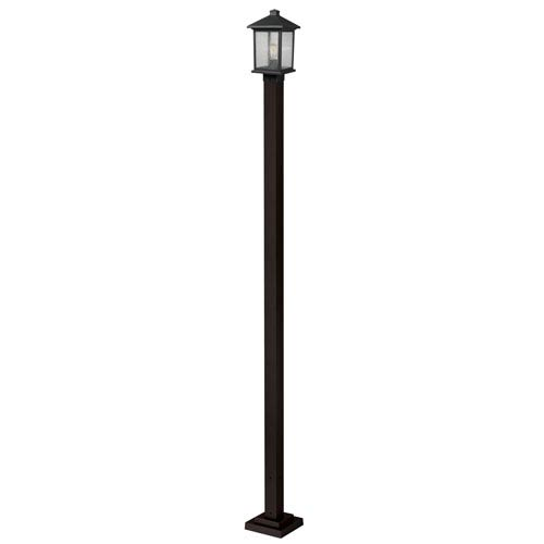 Z-Lite Portland Oil Rubbed Bronze 9-Inch One-Light Outdoor Small Post Light