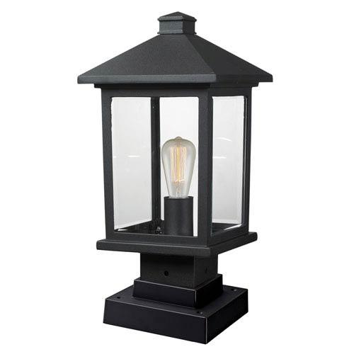 Portland Black 17-Inch One-Light Outdoor Pier Mount Light
