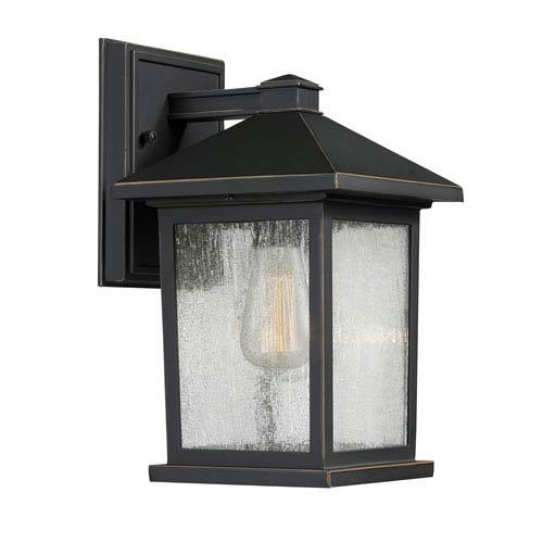 Portland Oil Rubbed Bronze 10-Inch One-Light Outdoor Wall Light