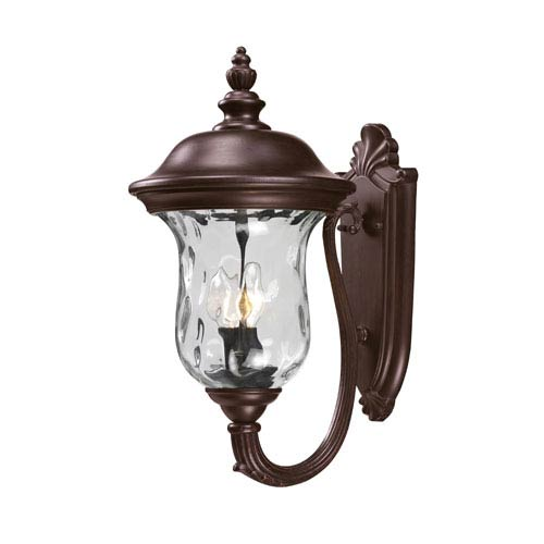 Z-Lite Armstrong Two-Light Rubbed Bronze Outdoor Wall Light
