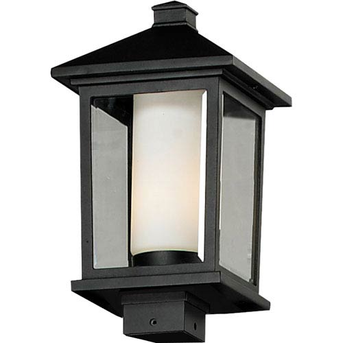 Z-Lite Mesa One-Light Large Black Outdoor Post Mount Light