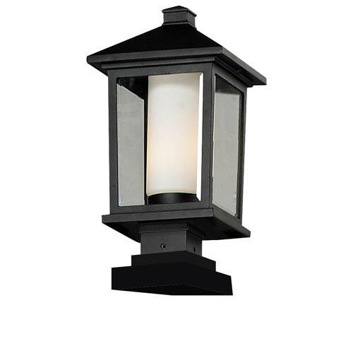 Z-Lite Mesa One-Light Large Black Outdoor Pier Light