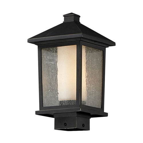 Z-Lite Mesa One-Light Medium Oil Rubbed Bronze Outdoor Post Mount Light