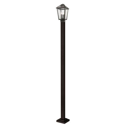 Z-Lite Bayland Oil Rubbed Bronze Nine-Inch Square Post