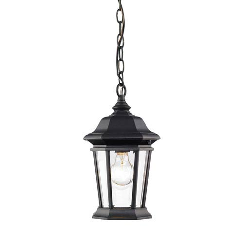 Z-Lite Melbourne Black One-Light Outdoor Pendant