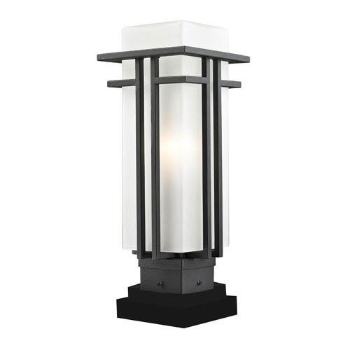 Z-Lite Abbey Black Outdoor Pier Mount Light