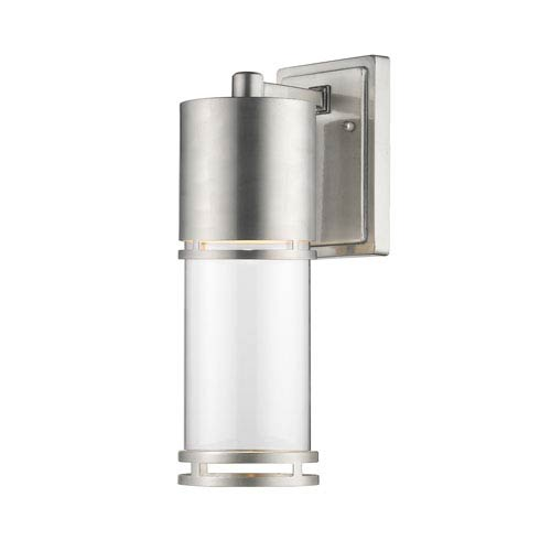 Luminata Brushed Aluminum 6.5-Inch One-Light Outdoor LED Wall Sconce