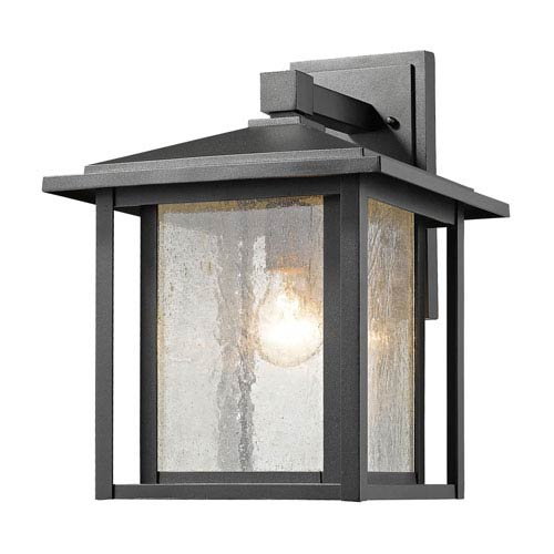 Aspen Black 12-Inch One-Light Outdoor Wall Light