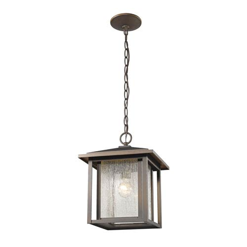 Aspen Oil Rubbed Bronze One-Light Outdoor Hanging Light