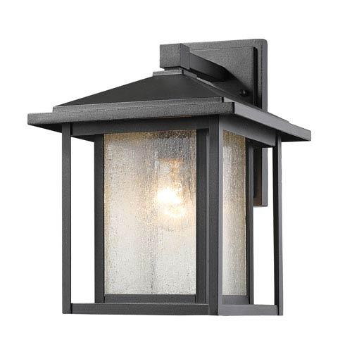Aspen Black 10-Inch One-Light Outdoor Wall Light