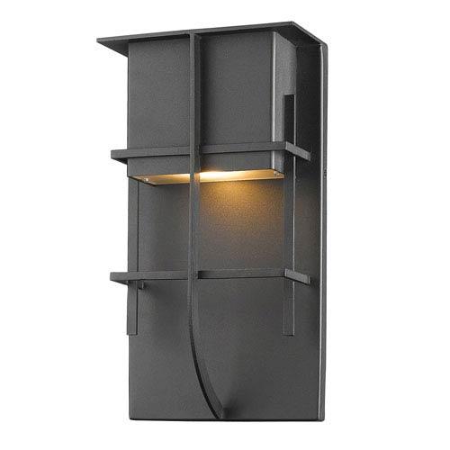 Stillwater Black 10-Inch One-Light LED Outdoor Wall Light