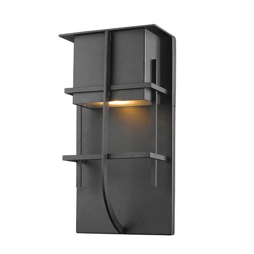 Stillwater Black 8-Inch One-Light LED Outdoor Wall Light
