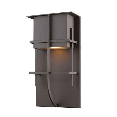 Stillwater Deep Bronze 8-Inch One-Light LED Outdoor Wall Light