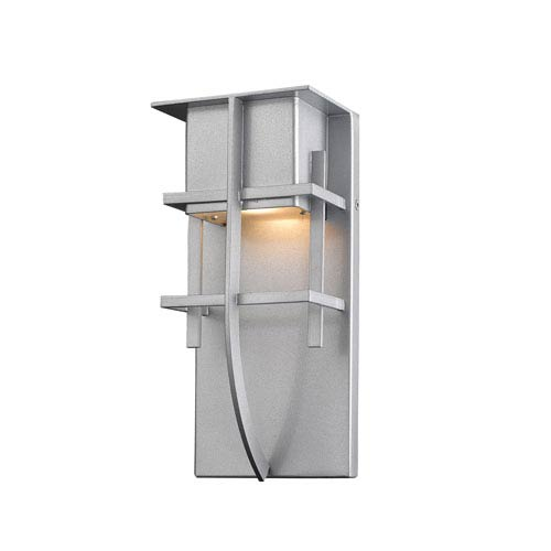 Z-Lite Stillwater Silver 5-Inch One-Light LED Outdoor Wall Light