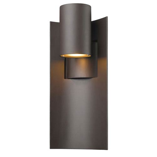 Amador deep bronze 9 inch led outdoor wall light