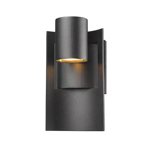 Amador Black 5 Inch One Light LED Outdoor Wall Light