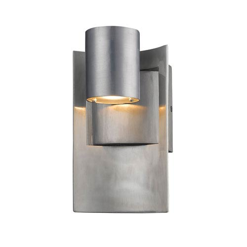 Amador Silver 5-Inch One-Light LED Outdoor Wall Light