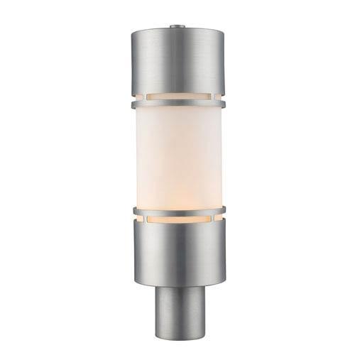 Luminata Brushed Aluminum 20-Inch LED Outdoor Post Light