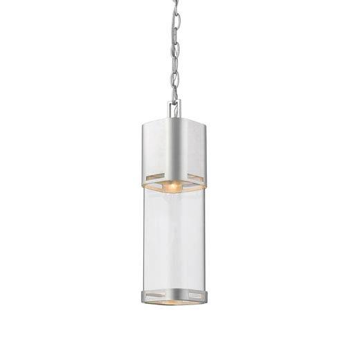 Lestat Brushed Aluminum 18-Inch LED Outdoor Pendant