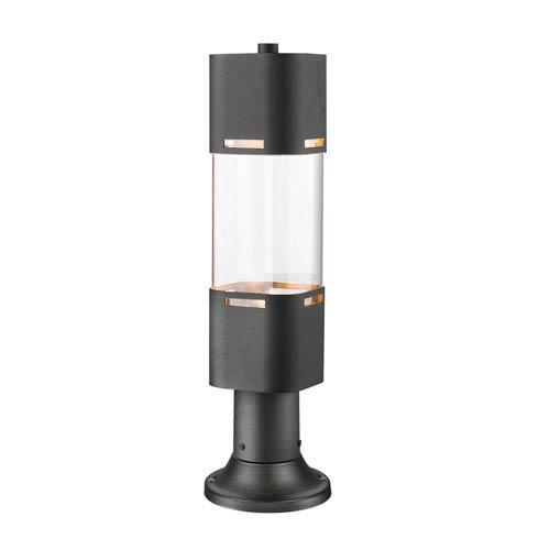 Led outdoor post lighting free shipping bellacor lestat black 23 inch led outdoor post light aloadofball Images