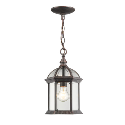 Annex Rust One-Light  Outdoor Chain Hung Pendant