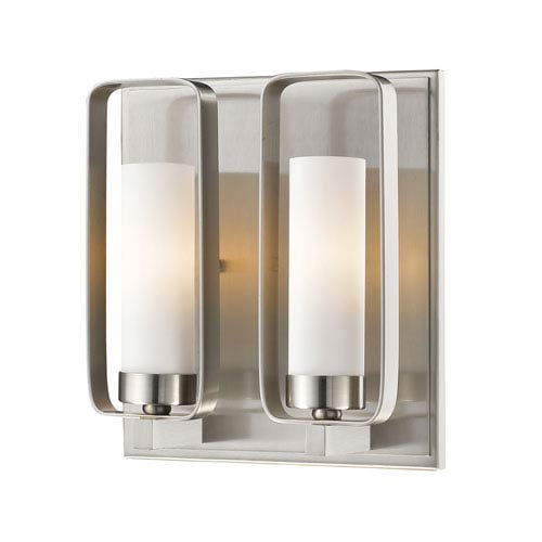 Z-Lite Aideen Brushed Nickel 9-Inch One-Light Wall Sconce