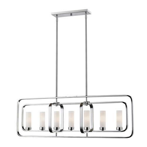 Aideen Chrome Seven-Light Linear Pendant