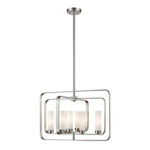 Z-Lite Aideen Brushed Nickel 24-Inch Eight-Light Pendant