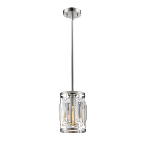 Mersesse Brushed Nickel 7-Inch One-Light  Mini Pendant