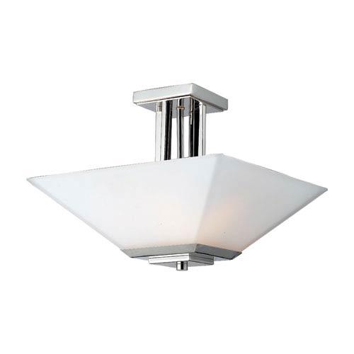 Z-Lite Affinia Chrome Three-Light Semi-Flush Mount