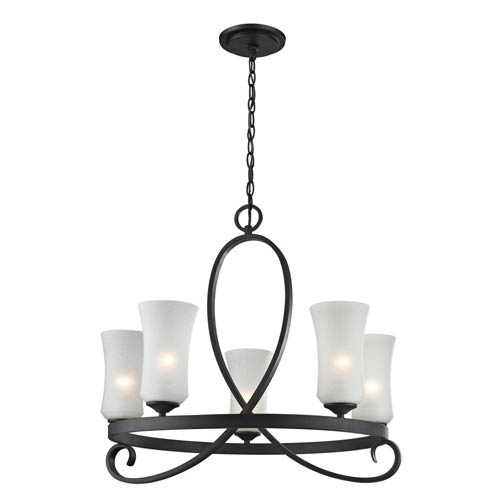 Z-Lite Arshe Bronze Five-Light Chandelier