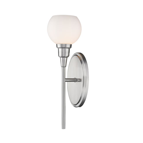Z-Lite Tian Brushed Nickel 5-Inch One-Light  Wall Sconce