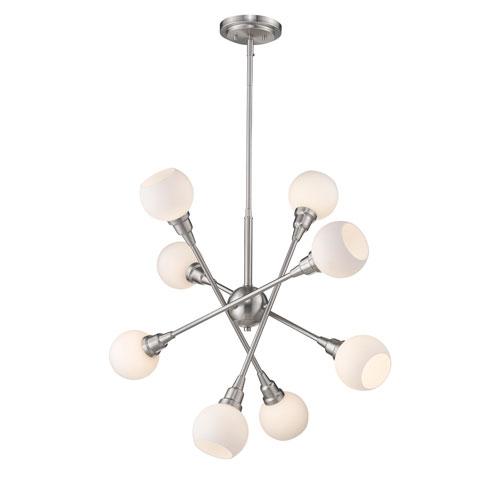 Tian Brushed Nickel 29-Inch Eight-Light  Pendant