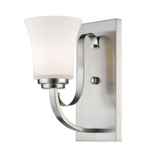 Z-Lite Halliwell Brushed Nickel One-Light Wall Sconce